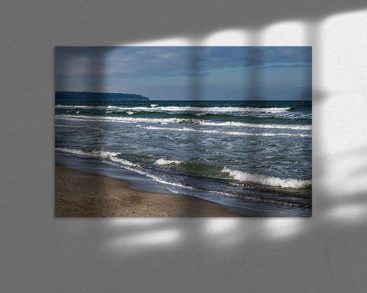Beispiel: Wellen am Strand an der Ostseeküste in Warnemünde von Rico Ködder