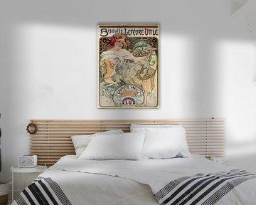 Vanillekipferl-Plakat - Alphonse Mucha, 1900er Jahre