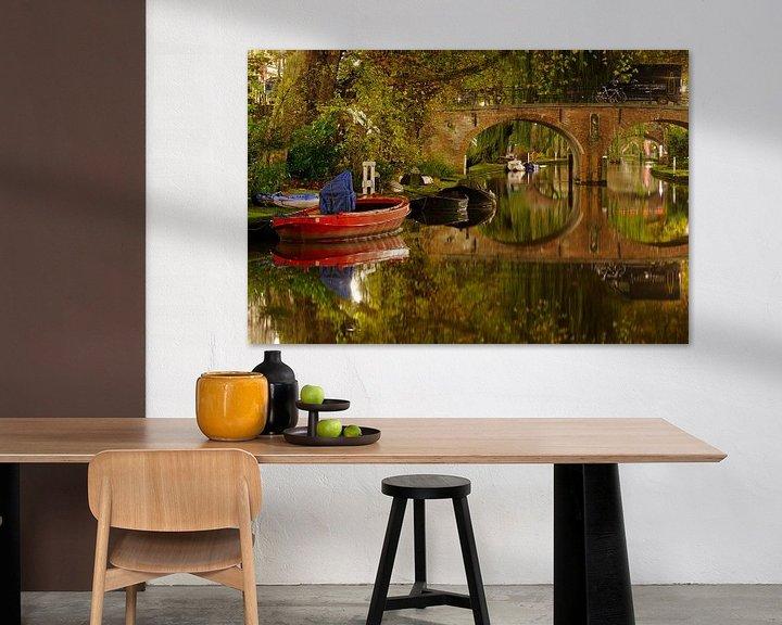Sfeerimpressie: Oudegracht in Utrecht met Geertebrug van Donker Utrecht