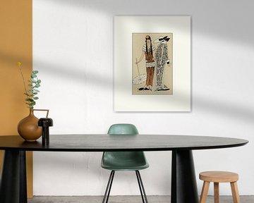 Vriendschap - Mode, advertentie, historische prent, 1920s, model, patroon van NOONY