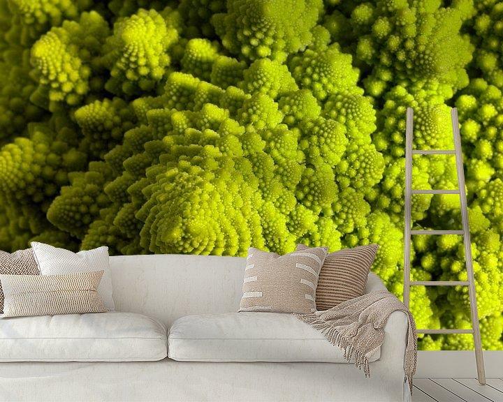 Sfeerimpressie behang: Romenesco bloemkool van Achim Prill