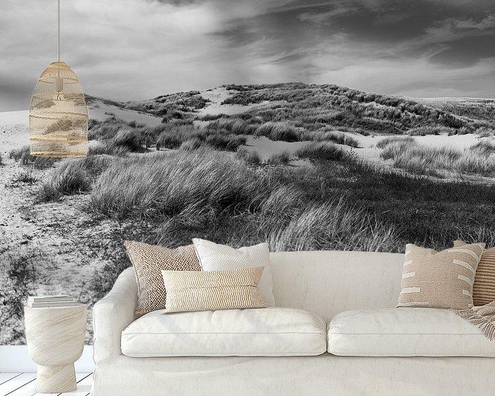 Sfeerimpressie behang: Duinlandschap bij de Kerf van Rob Donders Beeldende kunst
