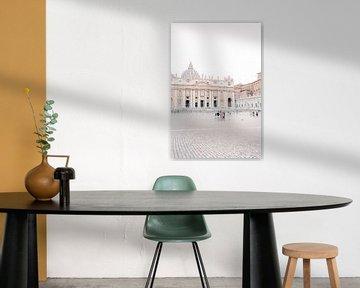 Sint-Pietersplein, Vaticaanstad, Rome, Italië van Laura de Roeck