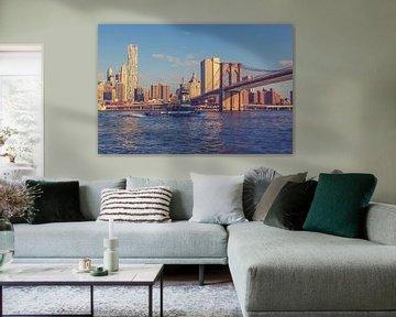 De bruggen in Dumbo New York 14 van FotoDennis.com