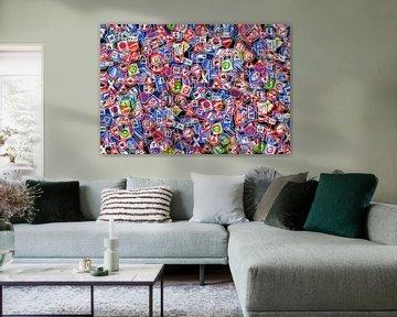 Collage van verkeersborden van Achim Prill