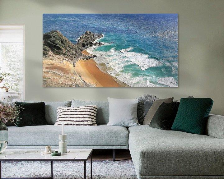Sfeerimpressie: Strand - Nieuw Zeeland - Cape Reinga - Ninety Mile Beach - 90 Mile Beach van Schildersatelier van der Ven