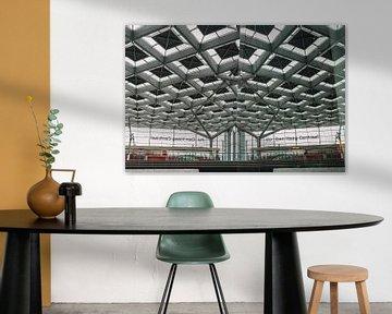 Straßenbahn und Reflexion am Hauptbahnhof Den Haag von Jonai