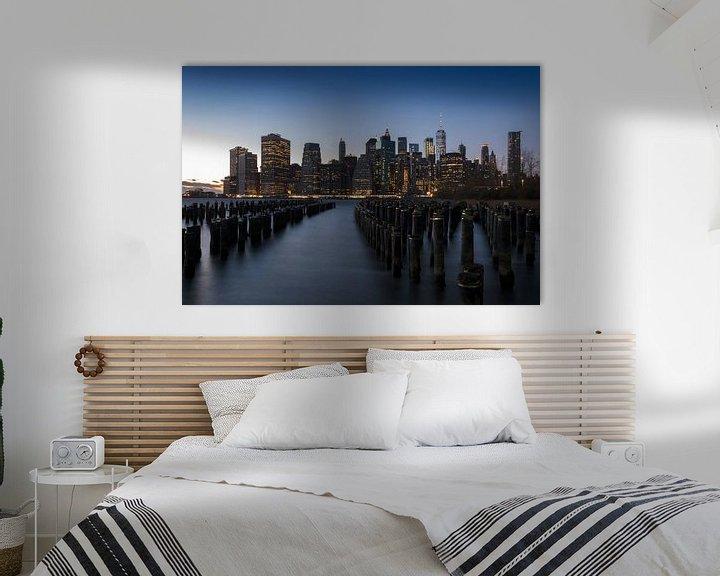 Sfeerimpressie: Manhattan bij zonsondergang van Alexander Schulz