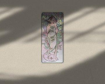 Frau, gezeichnet mit Blume (Lilie) - Alphonse Mucha, 1898