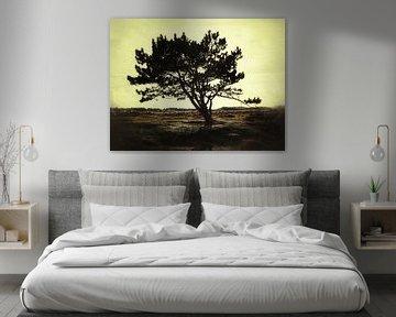 Eenzame boom van Anne van der Valk