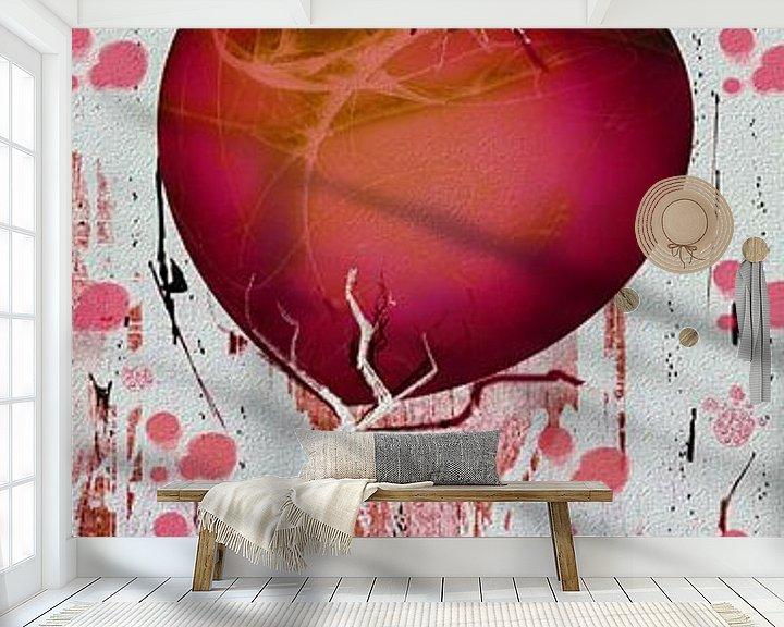 Beispiel fototapete: Herzgirlande - rot von Christine Nöhmeier