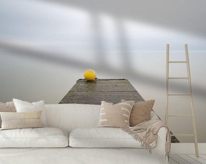 Sfeerimpressie behang: Boeiende steiger van Mark Bolijn