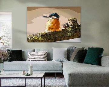 Eisvogel auf Ast von Michar Peppenster