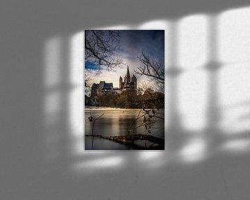 Limburg in de winter, de kathedraal aan de Nidda van Fotos by Jan Wehnert