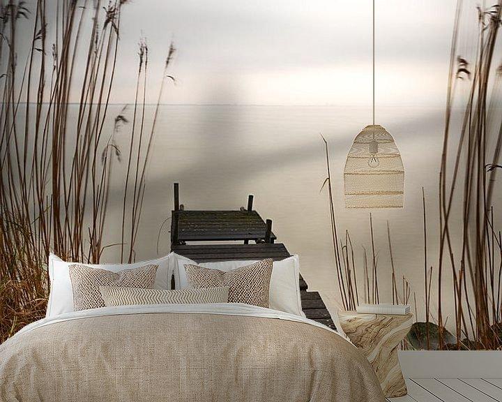 Sfeerimpressie behang: Avond bij het Markermeer van Mark Bolijn