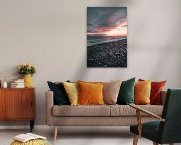 Isländischer Sonnenuntergang von Colin van Wijk