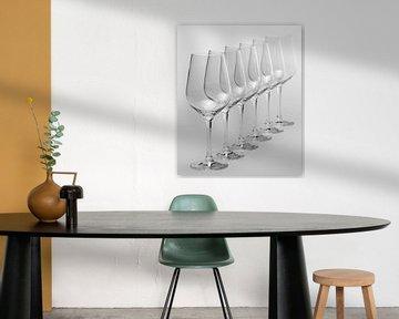 Lege wijnglazen van Achim Prill