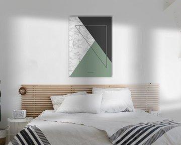 Marmoriertes grünes Dreieck von The Pixel Corner