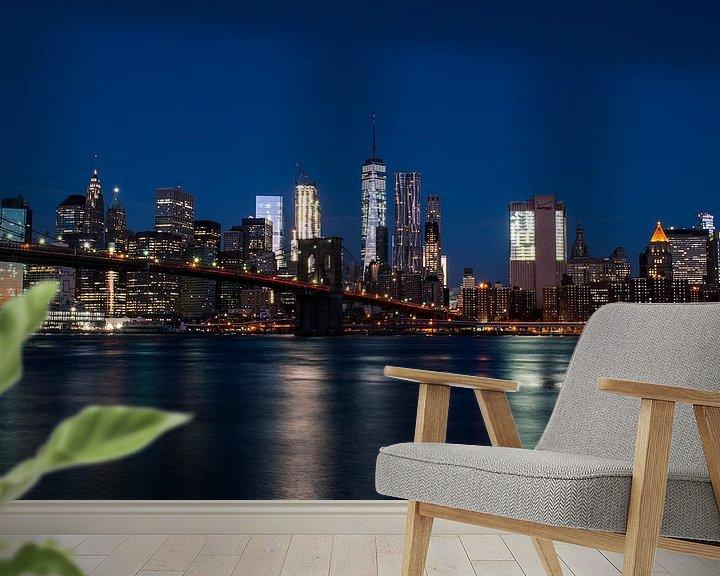 Sfeerimpressie behang: New York City skyline van Thomas Bartelds
