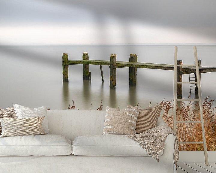 Sfeerimpressie behang: Zicht op het meer van Mark Bolijn