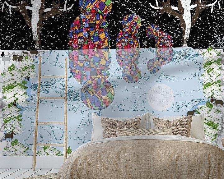 Sfeerimpressie behang: Een koude winternacht onder het maanlicht van EL QOCH