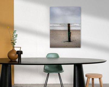 Strandpaal op Texel van Steven Goovaerts