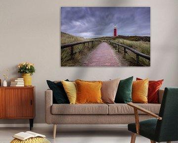 Texelse vuurtoren, strom lucht. van Justin Sinner Pictures ( Fotograaf op Texel)