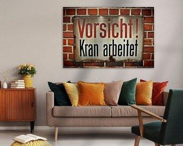 Blechschild von Norbert Sülzner