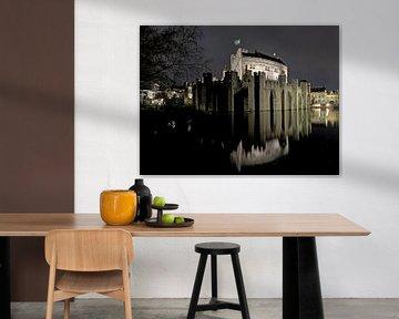 Le Château des Comtes la nuit, Gand