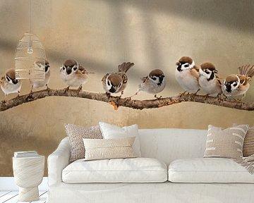 Vogels Op Tak van Diana van Tankeren