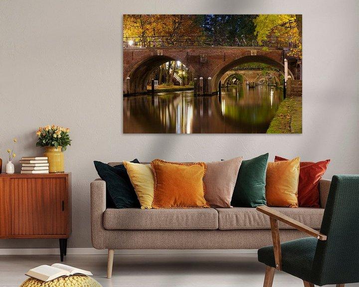 Sfeerimpressie: Smeebrug over de Oudegracht in Utrecht van Donker Utrecht