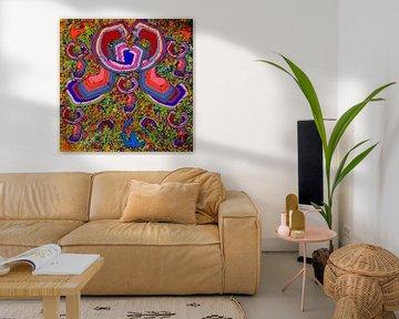 gekleurde abstracte en geometrische vormen van EL QOCH