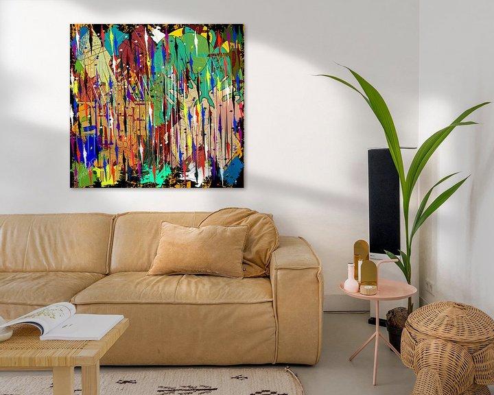 Sfeerimpressie: abstracte gekleurde lijn en geometrische vormen van EL QOCH