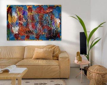 abstracte gekleurde lijn en geometrische vormen van EL QOCH