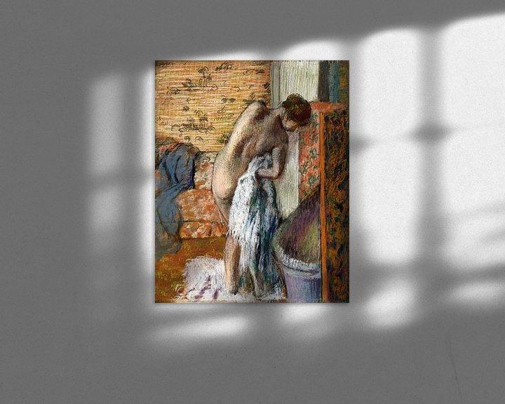 Beispiel: Nach dem Bad (Frau trocknet sich ab) , Edgar Degas (ca. 1886) von Atelier Liesjes