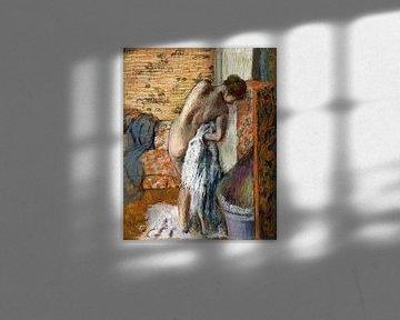 Nach dem Bad (Frau trocknet sich ab) , Edgar Degas (ca. 1886) von Atelier Liesjes
