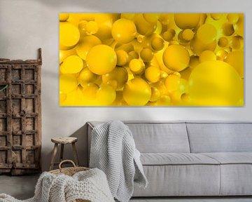 Veel gele ballen van Achim Prill