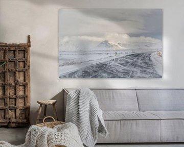 Road one tijdens winter in IJsland