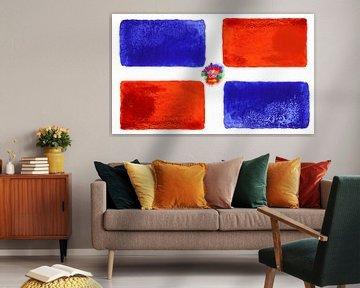 Symbolische Nationalflagge der Dominikanischen Republik von Achim Prill