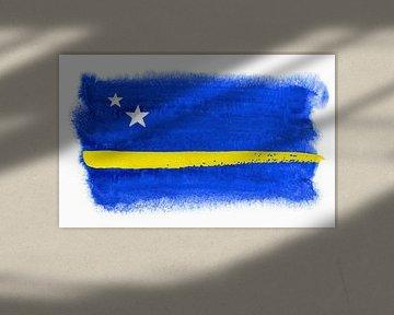 Symbolische Nationalflagge von Curacao von Achim Prill