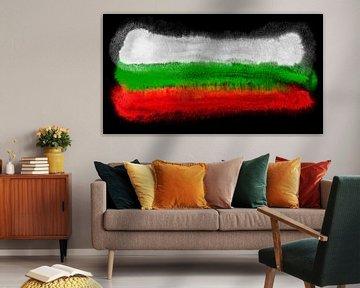 Symbolische Nationalflagge Bulgariens von Achim Prill