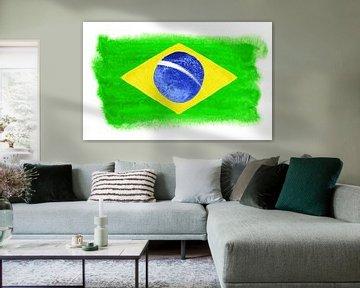 Symbolische Nationalflagge Brasiliens von Achim Prill