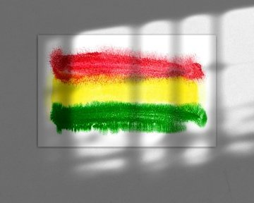 Symbolische Nationalflagge Boliviens von Achim Prill