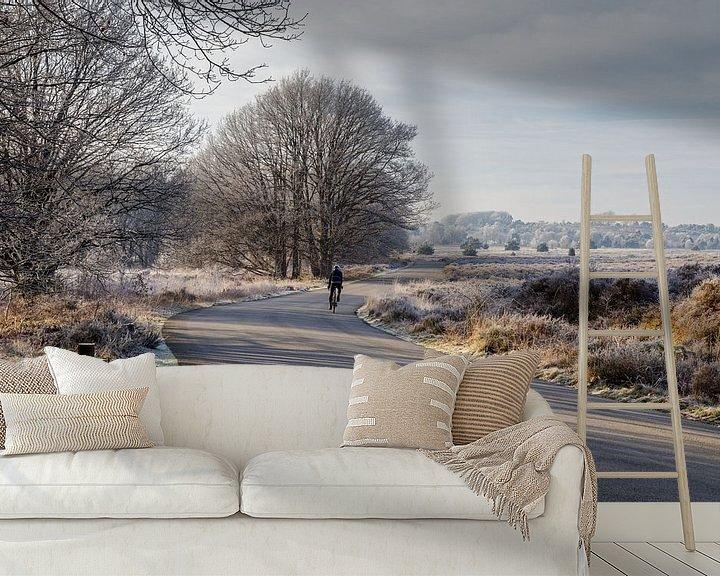Impression: Paysage gelé en hiver sur Anjo ten Kate