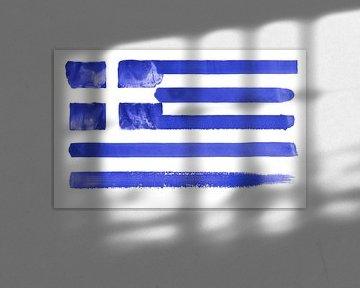 Symbolische Nationalflagge Griechenlands von Achim Prill