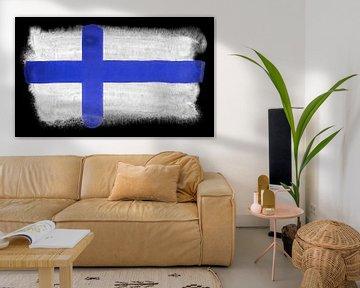 Symbolische Nationalflagge Finnlands von Achim Prill