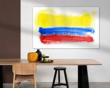 Symbolische Nationalflagge Kolumbiens von Achim Prill