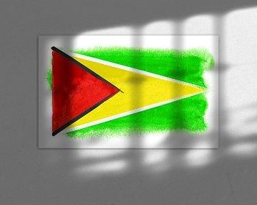 Symbolische Nationalflagge Guyanas von Achim Prill