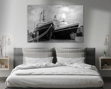 Zusterschepen Elbe en Clyde van Maurice Verschuur