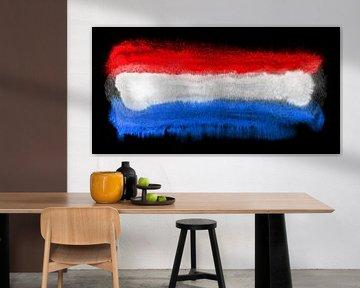 Symbolische Nationalflagge der Niederlande von Achim Prill